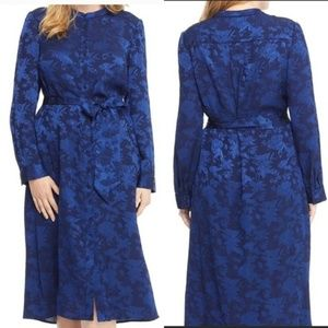Gal Meets Glam Frances Empress Damask Shirt Dress